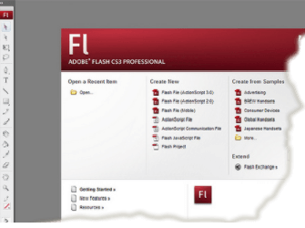 Adobe Flash interface