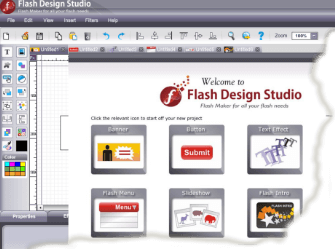 Flash gaming studio interface